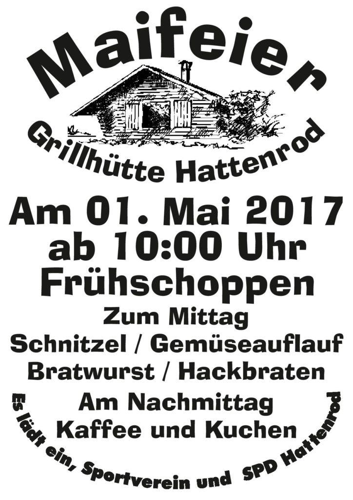 Finest Einladung Zur Maifeier Auf Der Grillhtte Sportverein Hattenrod  Einladungs With Einladung Zum Kuchen Essen